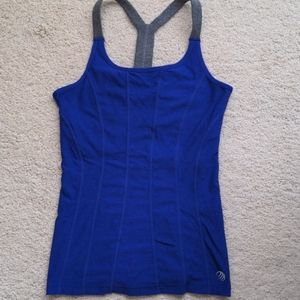 Fitted yoga top, purple, sz Small